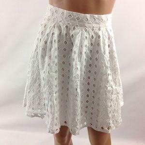 The Vanity Room Women's White Short Flare Skirt S